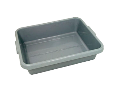 "5"" DEEP GREY TUB/BUS BOX, 20-1/4""x15-1/2""x5"", EACH,"