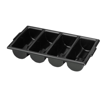 "Cutlery Bin, 21""x12""x4"", 4 compartment, stackable,"